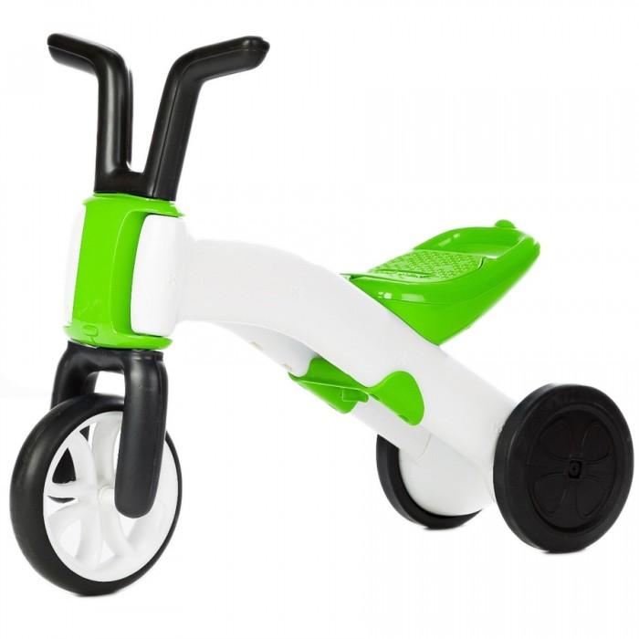 Беговел Chillafish BunziBunziУникальная особенность беговела каталки для самых маленьких Bunzi состоит в том, что это трансформер. Сначала ребенок учится отталкиваться ногами, когда два колеса сзади расставлены широко, а потом, после того как кроха освоится, можно быстро перевернуть раму с колесами (переключиться) так, что из задних двух колес получится одно сдвоенное колесо - и балансировать как на беговеле!   Колеса у такого удивительного беговела не пластиковые, как у большинства, а прорезиненные, что обеспечивает лучшее сцепление и позволяет плавнее катиться. А руль как у настоящего мотоцикла позволит Вашему малышу сразу почувствовать себя маленьким гонщиком, не уступающим свои страшим братьям или сверстникам.  На беговеле можно упражняться как дома, катаясь по паркету или линолеуму, оттачивая навыки, так и выбираться на детскую площадку, чтобы показать класс.  Особенности: Вес составляет всего 1,9 килограмма! Соответствует высоким европейским стандартам качества EN71, ASTM F963 Становится при необходимости, то каталкой, то велобалансиром Пневматические колеса на основе ПВХ (резины) не шумят, не деформируются Сиденье легко регулируется по высоте без ключа Удобный руль  Яркий детский дизайн и при том красивая, зрелищная подарочная упаковка В сиденье есть контейнер для конфеток с крышкой Для удобной переноски в задней части сиденья есть прорезрь-ручка  Размер (дхшхв) 57х64х76 см<br>