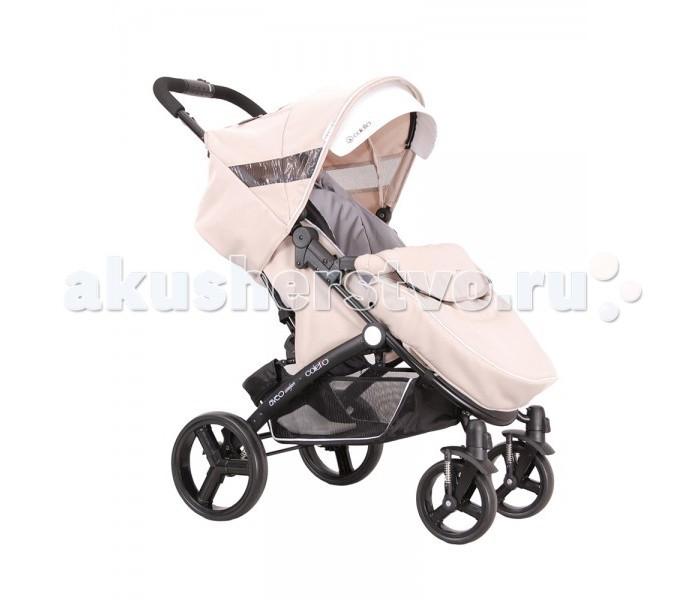 Прогулочная коляска Coletto AveoAveoПрогулочная коляска Coletto Aveo предназначена для детей от 6 месяцев до 3 лет (15 кг).  Каркас коляски выполнен из прочного и легкого алюминия. Колеса легко и просто снимаются. Передние колеса оснащены удобной функцией поворота на 360 гр, с возможностью блокировки.    Особенности: Ручка для родителей регулируется по высоте. Спинка коляски регулируется в 4-х положениях. Прогулочный блок оснащен 5-титочечным ремнем, и ограничителем между ножек. Поручень (бампер) коляски оббит мягкой тканей, легко устанавливается и снимается. Регулируемая подножка коляски. Рама коляски легко складывается, и фиксируется (помещается в любой багажник).  Размеры: размеры сложной конструкции:(длина/высота/ширина) 59/84/32 см размеры спинки: (ш/в) 33/43 см размеры сиденья: (ширина/высота) 33/22 см размеры подножки: (высота/ширина): 16/35 см колея задних колес: (разм. внеш.) 59 см вес коляски: 10 кг.<br>