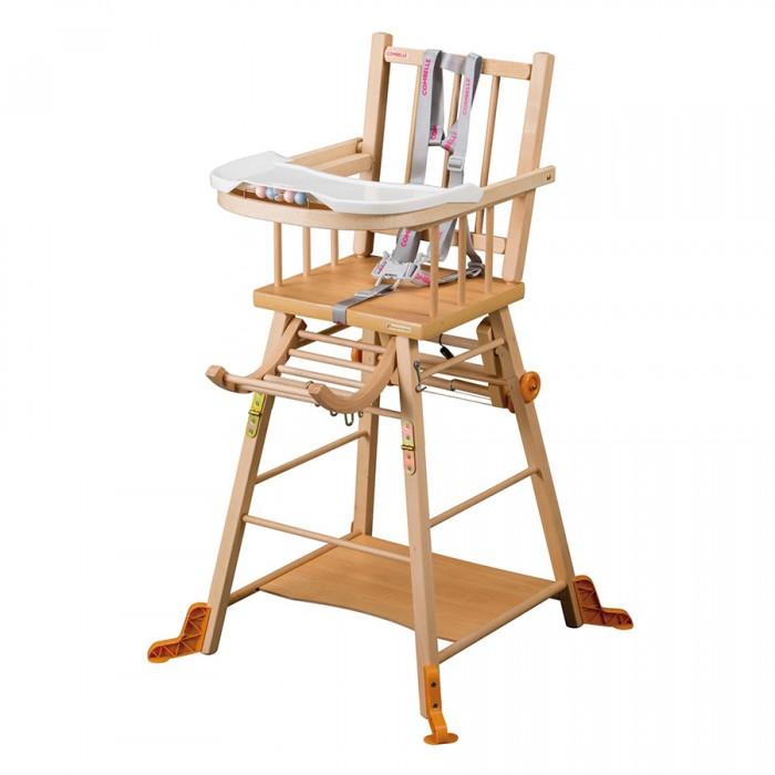 Стульчик для кормления Combelle MarcelMarcelСтульчик для кормления Combelle Marcel – наиболее традиционный стульчик в ассортименте бренда.   Особенности: Преваращается в маленький столик со стульчиком. Съемный поднос. 5-ти точечный ремень безопасности. Дополнительная опора на ножках. Размеры в разложенном виде: стульчик для кормления - 47х47х98см, стульчик со столиком - 47х75х60см.<br>