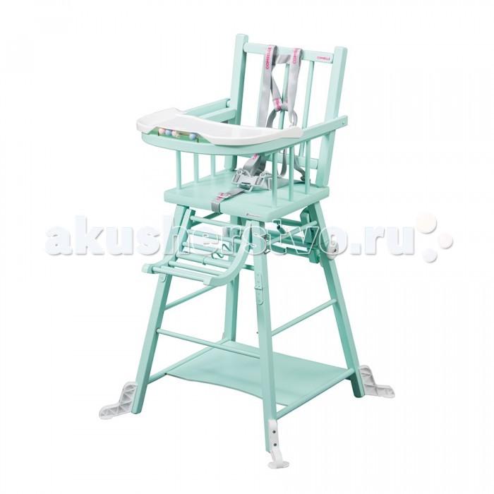 Стульчик для кормления Combelle TransformableTransformableСтульчик для кормления Combelle Transformable – наиболее традиционный стульчик в ассортименте бренда.   Особенности: Преваращается в маленький столик со стульчиком. Съемный поднос. 5-ти точечный ремень безопасности. Дополнительная опора на ножках. Размеры в разложенном виде: стульчик для кормления - 47х47х98см, стульчик со столиком - 47х75х60см.<br>
