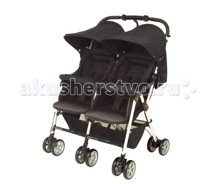 Combi Прогулочная коляска для двойни Spazio DuoПрогулочная коляска для двойни Spazio DuoCombi Прогулочная коляска для двойни Spazio Duo. Корпорация Combi выпустила новые прогулочные коляски для двойни, которые подойдут как двойняшкам, так и погодкам. Самые счастливые минуты в жизни каждой семьи - это ожидание появления малыша. Но вместе с приятными заботами на молодых родителей сваливаются много небольших, но очень важных хлопот, и особенно на не совсем подготовленных для этого пап. Ведь будущие мамы готовятся в роддом, а покупать что либо до рождения ребенка как-то не принято многими родителями.  Прогулочный блок : предназначена для ребенка с рождения и до 3 лет благодаря отличной вентиляционной системе, Ваши малыши чувствует себя отлично даже в жаркую погоду сидения коляски сделаны из 3D дышащих материалов для изготовления покрытия для сиденья и сна используются специальные влагоотводящие и теплоотводящие материалы независимая регулировка сиденья. Каждое сиденье может быть отрегулировано индивидуально под ребенка большое удобное ложе. Длинные и широкие сиденья обеспечат малышам дополнительный комфорт при поездке сиденья откидываются на 170°. В одно касание сиденья можно перевести из вертикального положения в горизонтальное 5 - точечные ремни безопасности, обеспечат максимальную безопасность вашему малышу Солнцезащитный капор надежно защищает Вашего малыша от вредного ультрафиолета (до 96%) и непогоды ручка коляски сконструирована таким образом, чтобы обеспечить максимальный комфорт для родителей, обеспечивая полный шаг без опасения споткнуться о коляску двойные колеса великолепно сглаживают неровности дороги, и оказывают амортизационный эффект колеса поглощают вибрацию от дороги. Все шесть колес обладают функцией поглощения вибрации от неровности дороги легкая блокировка колес. Одно нажатие на стопор центрального заднего колеса блокирует все задние колеса износостойкое покрытие колес. Шасси: прочная, легкая рама удобный принцип складывания. Коляска легко и быстро 
