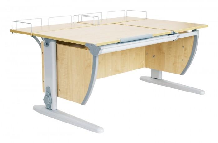 Дэми Стол универсальный трансформируемый СУТ.17-01 (столешница клен)Стол универсальный трансформируемый СУТ.17-01 (столешница клен)Дэми Стол универсальный трансформируемый СУТ.17-01 (столешница клен)- это модель с раздельной столешницей, с задней приставкой, но без подвесной тумбы.  Детская парта Деми СУТ 17-01 имеет 9-ти ступенчатый механизм наклона столешницы производства Shatti (Германия). Занимаясь за школьной партой Деми, ребенок выбирает оптимальный угол наклона столешницы от 0 до 26° в зависимости от того рисует он, читает или пишет. Комплект СУТ 17-01, как и все модели парт Деми, адаптируется под рост ребенка от 110 до 198 см, а благодаря удачным цветовым решениям, растущая парта впишется в интерьер любой квартиры.    В дополнение к комплекту СУТ 17-01 можно приобрести растущий стул Деми или эргономичное кресло. Это очень важное дополнение к растущей парте трансформеру Деми, потому как ученический стул или кресло также растет вместе с ребенком как и парта, обеспечивая правильное положение ребенка за столом во время долгих занятий дома. Подвижная конструкция стула Дэми предотвращает искривление позвоночника, поддерживает правильную посадку и способствует формированию правильной осанки. Возможность многоуровневой регулировки ученического стула Дэми по глубине и высоте сидения, адаптирует эргономический стул под рост именно Вашего ребенка.  Ученический стол и стул Дэми займет совсем немного места в детской комнате, но станет самым удобным и любимым уголком школьника.  Ребенок будет заниматься с удовольствием, сидя за правильным растущим столом Деми на правильном ученическом стуле Деми, сохраняя свое здоровье и осанку!  Особенности: Для детей ростом от 110 до 198 см. Регулировка угла наклона столешницы. С раздельной столешницей 75х55 см и 43х55 см. Желоб для канцелярских принадлежностей. В комплекте две задние приставки 60х25 см.<br>