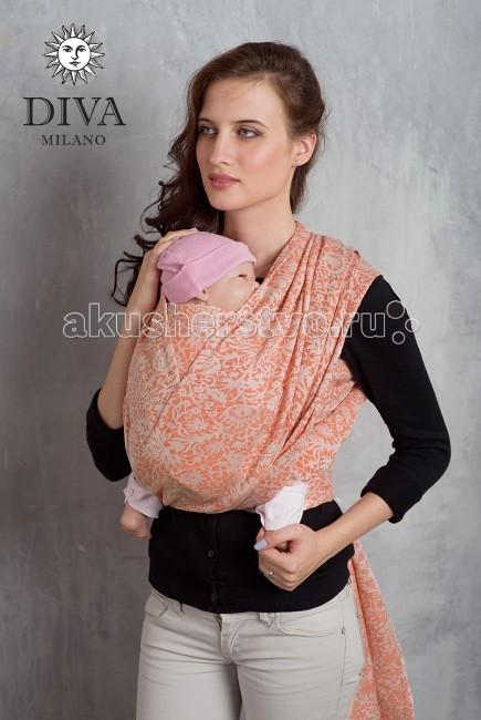 Слинг Diva Milano шарф, хлопок-лен (5.2 м)шарф, хлопок-лен (5.2 м)Слинг-шарф Diva Milano - мягкий, нежный шарф, особенно приятен для новорожденных и деток до года.  Шарф со льном из новой коллекции Diva Milano: мягкий новым, рыхлый, холодящий в жару - идеален для тяжелого ребенка, особенно летом. Поверхностная плотность - 295 г/м2  Особенности слинга-шарфа Diva Milano: прекрасный дизайн от итальянских дизайнеров компании большой выбор расцветок универсальные характеристики (шарф мягкий новым благодаря специальной механической обработке, но средней толщины, так что его можно использовать и с новорожденным, и с подросшим ребенком) отличное качество   Края слинга - подшитые. Состав: 54% египетский хлопок, 46% лен Размер: 5.2 м  Египетский хлопок - это самый лучший и самый дорогой сорт хлопка - длинноволокнистый, его обычно используют для производства одежды или постельного белья класса люкс. Благодаря длинным и тонким волокнам такой хлопок не скатывается в катышки, из него получаются легкие, но крепкие, шелковистые и мягкие нити. При надлежащем уходе слинги из египетского хлопка прослужат несколько десятилетий, что оправдывает более высокую цену ткани.<br>