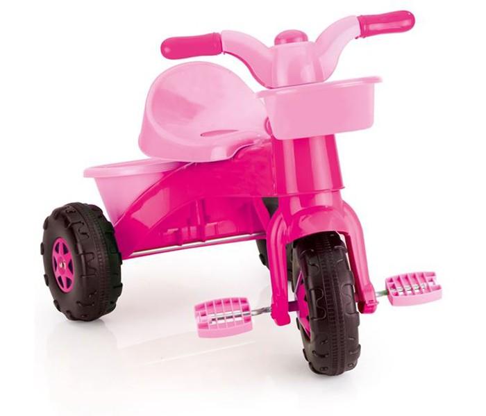Велосипед трехколесный Dolu Мой первыйМой первыйТрехколесный велосипед Dolu Мой первый очаровательный велосипед с корзиной для игрушек, которая прикреплена спереди на руле.   Особенности: одна маленькая корзинка для вещей спереди на руле и одна большая корзинка сзади педали удобны для кручения детскими ножками велосипед розового цвета размер велосипеда: 50 x 65 x 46 см<br>