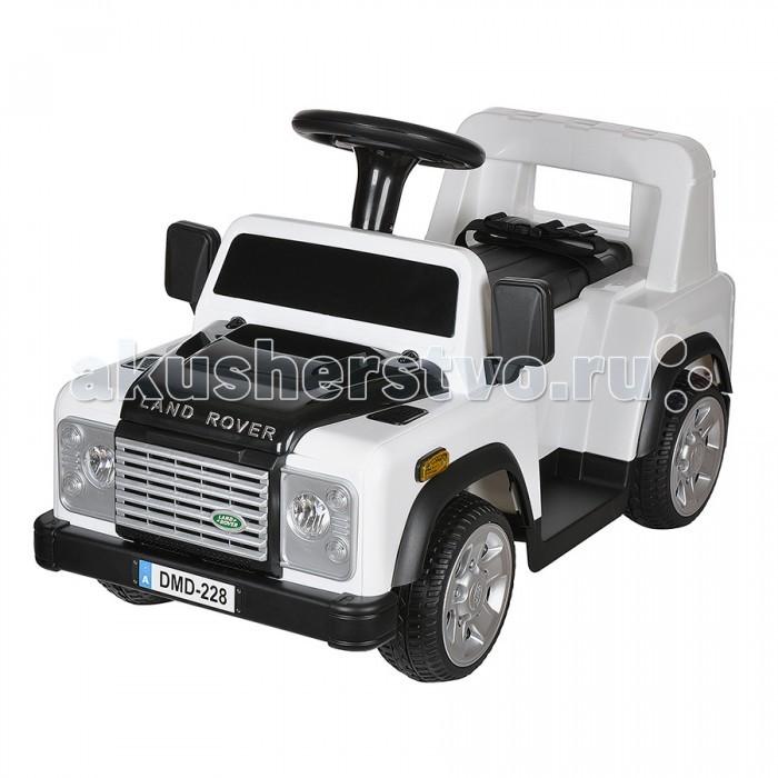 Электромобиль Dongma Land Rover DefenderLand Rover DefenderDongma Электромобиль Land Rover Defender— электроминикар, оснащенный всем необходимым, чтобы малыш почувствовал себя настоящим водителем. Несколько скоростей, ремень безопасности, звуковые эффекты, светодиодные огни — автомобиль несомненно порадует маленького Шумахера и не даст ему заскучать.  Особенности: Изготовлен из высококачественного ударопрочного пластика Колеса из пластика с резиновой накладкой Одно посадочное место Ремень безопасности Запуск двигателя кнопкой Амортизаторы на задней оси Светодиодные передние фары Несколько скоростей: 3 — вперед, 1 назад (максимальная — 3 км/ч) Звуковые эффекты Разъем и провод для МР3-устройств: можно слушать музыку Пульт дистанционного управления типа Bluetooth Источник питания — батарея напряжением 6V (работает 70-80 минут) Источник питания для пульта — 2 батарейки типа ААА Максимальный вес ребенка: 30 кг Размеры: 78х41х49 см.<br>