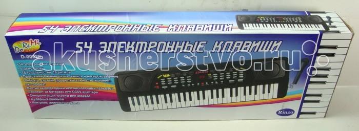 Музыкальная игрушка DoReMi Синтезатор 54 клавишиСинтезатор 54 клавишиDoReMi Синтезатор 54 клавиши привлечет внимание вашего ребенка и доставит ему много удовольствия от часов, посвященных игре с ним.  Особенности: Синтезатор оснащен регулятором громкости, благодаря которым вы не потревожите и домочадцев даже самых привередливых соседей, громкими звуками. Игра на музыкальных инструментах способствует развитию слуха и чувства ритма. Синтезатор (пианино электронное), 54 клавиши, с микрофоном, цифровым дисплеем 16 тембров 16 ритмов 8 видов ударных/ ударная панель 6 стерео демо мелодий 16 уровней громкости 16 уровня темпа Запись/воспроизведение Програмирование Вибрато/сустейн/эхо Взятие аккорда одним или несколькими пальцем Синхронизация/заполнение<br>