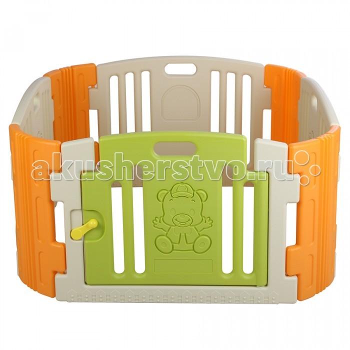 Edu-Play Ограждение-манеж с зеркаломОграждение-манеж с зеркаломОграждение-манеж с игровой панелью - неотъемлемая часть детской комнаты. Можно использовать с ясельного возраста. Ребенок находится в безопасности, даже если вы его не видите. И к возрасту 3 лет манеж послужит игровой зоной вашему ребенку.  В комплект входит: панель с зеркальцем на стенке манежа панели - 6 шт дверная панель с нарисованным Мишкой - 1 шт дверная рама - 1 шт дверной замок - 1 набор набор наклеек для украшения  Размер: 116х116х60 см<br>