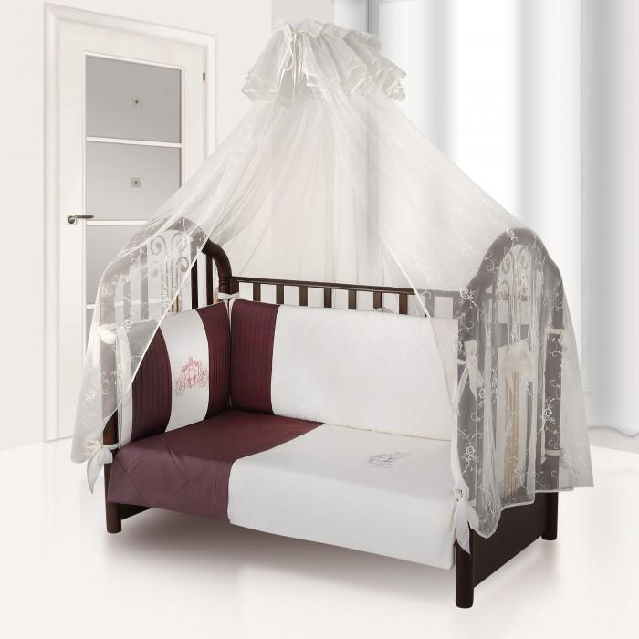 Комплект в кроватку Esspero Plisse (6 предметов)Plisse (6 предметов)Комплект в кроватку Esspero Plisse (6 предметов) обеспечит малышу здоровый и комфортный сон в кроватке.   Наполнитель текстильных элементов - нежный холлофайбер. Материал не теряет форму в процессе эксплуатации, в нём не заводятся пылевые клещи. Внешняя обивка - натуральный хлопок. Комплект выполнен в аристократических расцветках, украшен стильными элементами декора.  В комплект входят: наволочка - 40 х 60 см  пододеяльник - 110 х 140 см простынка - 125 х 65 см съемный бортик подушка - 40 х 60 см одеяло - 110 х 140 см<br>