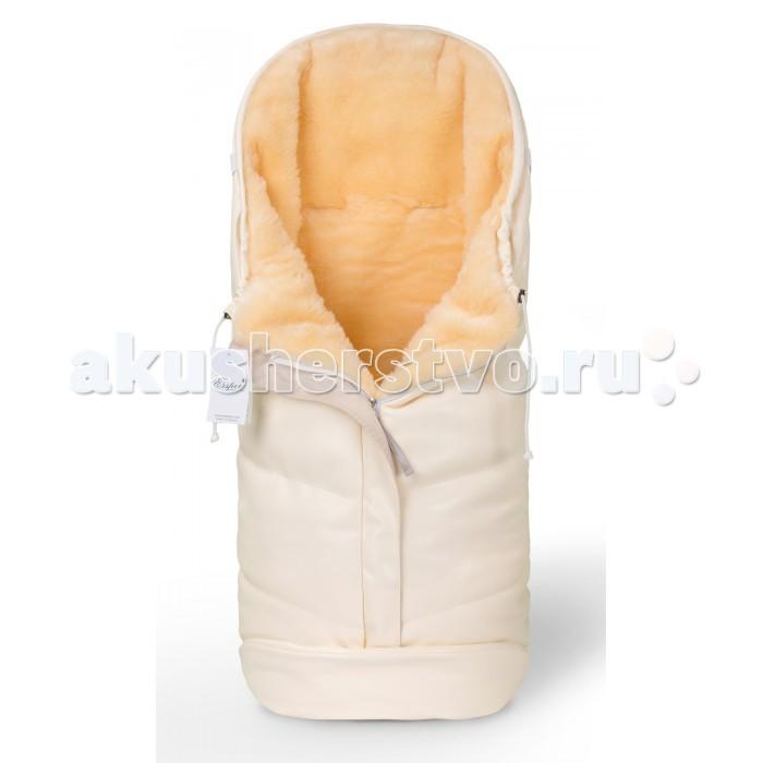 Зимний конверт Esspero Sleeping Bag LuxSleeping Bag LuxМодель Sleeping Bag Lux воплощает в себе все самые современные разработки и столетние традиции Норвегии в области создания теплой одежды. Его верхнее покрытие состоит из очень прочного материала, который не пропускает ветер и влагу. Утеплителем была выбрана 100% натуральная медицинская овечья шерсть, которая славится своими гипоаллергенными свойствами.  Конверт может использоваться в колясках практически всех типов, а также применим для санок либо автокресел. Его конструкторской особенностью является возможность раскрыть ножки малыша, не раскрывая всего конверта. Таким образом, конверт Sleeping Bag Lux - это отличное сочетание качества, современных дизайнерских решений, замечательного тепла и, что немаловажно, разумной цены.  Шерсть вбитая в ткань<br>