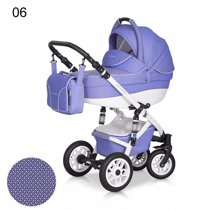 Коляска Expander Essence 2 в 1Essence 2 в 1Коляска Expander Essence 2 в 1 от польского производителя для детей с рождения до 3-х лет.   Высококачественная модульная коляска в оригинальном стильном дизайне, выполнена на белой облегчённой раме, обладает отменными эксплуатационными качествами и высокой надежностью, гарантирует удобство не только ребенку, но и  родителям.   Коляска Essence укомплектована комфортной люлькой и прогулочным блоком, которые легко устанавливаются на раму, как по ходу, так и против хода движения, т.е. «лицом к маме».   Люлька коляски просторная, обтекаемой формы позволит малышу чувствовать себя комфортно как зимой, так и летом. Бортики люльки дополнительно утеплены изнутри, что защищает малыша от ветра и непогоды во время прогулок.   Комфортное и удобное прогулочное сиденье для подросшего малыша предоставит наилучшие условия для увлекательных прогулок и изучения окружающего мира. Для этого спинка сиденья может устанавливаться в нескольких положениях, а подножка регулируется по высоте.   Данная модель очень удобна и маневренна благодаря небольшому весу, всего 15 кг, и ширины колесной базы в 60 см, позволяющей провезти коляску практически в любую дверь или лифт. Коляска оснащена пружинной амортизацией, большими маневренными колесами и надежной алюминиевой рамой. Коляска с такими характеристиками без проблем преодолевает самые разные препятствия на своем пути, не боится снега, дождя и грязи.   Люлька: Верхняя часть из водонепроницаемой ткани  Не продуваемые борта  Регулируемый по высоте подголовник  Удобная ручка, расположенная  на капюшоне для переноски, обтянута эко-кожей  Бесшумный механизм регулировки капюшона  Дополнительный козырек на капюшоне, который прикроет малыша от ярких солнечных лучей  Высокий отворот на накидке на люльку защитит новорожденного от непогоды  Внутренняя вкладка выполнена из 100% хлопка, легко снимается для стирки   Размеры внутренние люльки:  80 х 37 х 20 см  Вес: 4.9 кг  Прогулочный блок: Регулируемая подножка  Увели