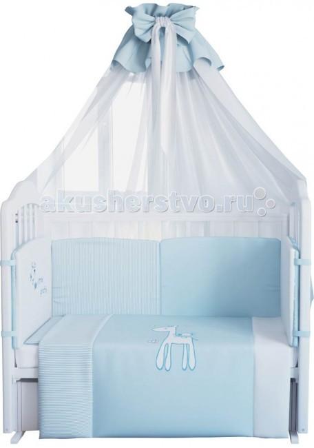 Комплекты в кроватку Fairy Жирафик 140х70 (7 предметов) комплекты в кроватку fairy жирафик 120х60 7 предметов