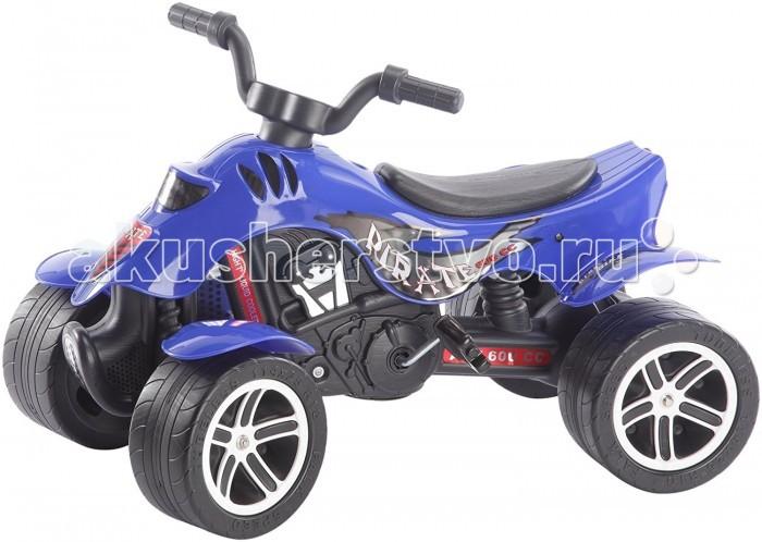 Falk Квадроцикл 601/604Квадроцикл 601/604Педальная машина Falk Квадроцикл подойдёт для маленьких детей от 3-х до 7-ми лет. Является отличным тренажёром для мышц ног и развивает координацию движений ребёнка. Высокий квадрацикл на педалях. Очень стильно выполнен: с необычными дисками на колесах, с иммитацией внутренних деталей как на реальном квадрацикле. Но отличается от реального квадрацикла наличием педалей, которые способствуют развитию ребенка.  Движется мотоцикл с помощью педалей за счет прочной системы цепного привода, развивая мышцы ног ребенка и координацию движений.   Особенности: Удобный маневренный квадрацикл изготовлен из прочного пластика Все детали выполнены из качественной пластмассы Большие широкие колеса c протектором позволяют квадрациклу передвигаться по любой поверхности дороги – асфальту, лужам, грунту, камням, песку и траве У квадрацикла – 4 больших колеса  Эргономика сиденья - 10 баллов Руль легко поворачивается, что обеспечивает простоту в управлении Максимальная нагрузка - 50 кг  Размеры: 84 x 50 x 56 см<br>