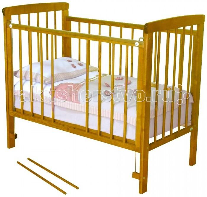 Детская кроватка Можга (Красная Звезда) Машенька С-237Машенька С-237Детская кроватка для новорожденного ребенка должна быть максимально безопасная, удобная и комфортная. Поэтому при выборе спального места для малыша следует учитывать материал, из которого произведена кровать.  Детская кроватка Машенька от фабрики Можга соответствует критериям прочности, безопасности и комфорта.  Кровать изготовлена из экологически чистого материала – массива березы, отличающейся от других материалов своей высокой прочностью и износостойкостью.  У кроватки опускается передняя стенка, обеспечивая быстрый доступ к ребенку, а для подросшего малыша, который может самостоятельно ходить, предусмотрены съемные рейки.  Особенности: кровать изготовлена из массива березы спальное ложе регулируется по высоте (3 уровня) опускающаяся передняя стенка 2 съемные рейки в передней стенке реечное дно внешние размеры: 125 х 70 х 107 см внутренние размеры: 120 х 60 см<br>
