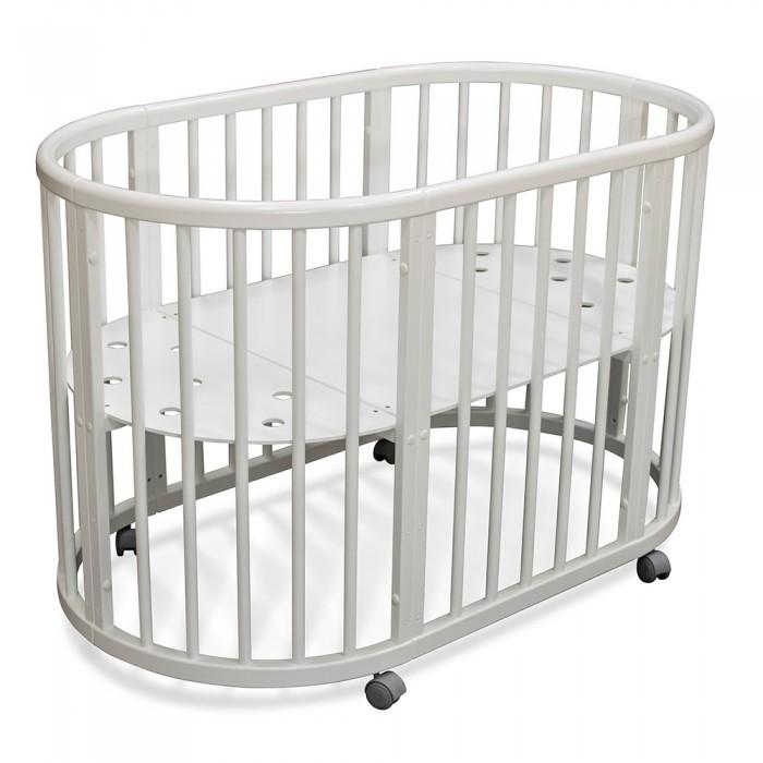 Кроватка-трансформер Феалта-baby Луна 5 в 1Луна 5 в 1Кроватка Феалта-baby Луна 5 в 1 идеально подойдет для только появившихся на свет малюток.   В ней ребенок будет себя чувствовать прекрасно. Круглая детская кроватка-трансформер специально оборудована таким образом, чтобы ребенку было в ней удобно находиться, а родителям было комфортно проявлять заботу о малыше.   Удобные колесики способствуют мягкой езде по квартире, это кроватку можно спокойно покачивать, не опасаясь, что она издает шум. Вы можете купить круглую кроватку-трансформер для новорожденного в нашем интернет-магазине из массива бука - она подойдет для детей до пяти-шести лет.   Виды трансформации: круглая кроватка-колыбель, овальная кроватка, приставная кроватка, манеж, комплект детской мебели: стол и 2 кресла.  Кроватка: кроватка фурнитура колесики - 4 шт. мягкого хода серого цвета инструкция по сборке Кроватка имеет 4 положения уровней дна (с учетом высоты колес): 785 мм, 465 мм, 305 мм, 145 мм. Размер спального места в круглой кроватке 68 x 68 см в овальной кроватке 124 х 68 см<br>