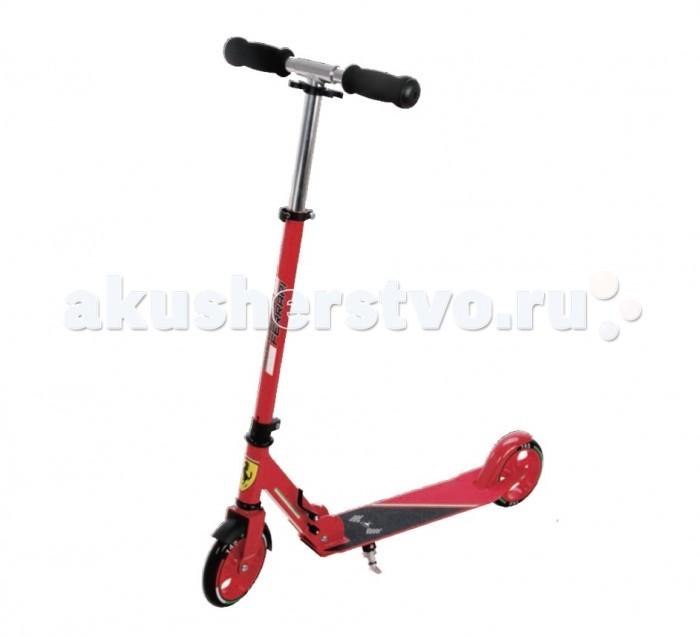 Двухколесный самокат Ferrari Stunt Scoot FXA-50Stunt Scoot FXA-50Двухколесный самокат Ferrari Stunt Scoot FXA-50 для детей от 5-ти лет.  Материл: алюминий.  Тормоза задние-наступающий (step-on brake)  Полиуретановые литые колёса жёсткостью 82А. Размер колес: 145*24мм Подшипник:АВЕС-7 Лёгкая система складывания, прорезиненные ручки<br>
