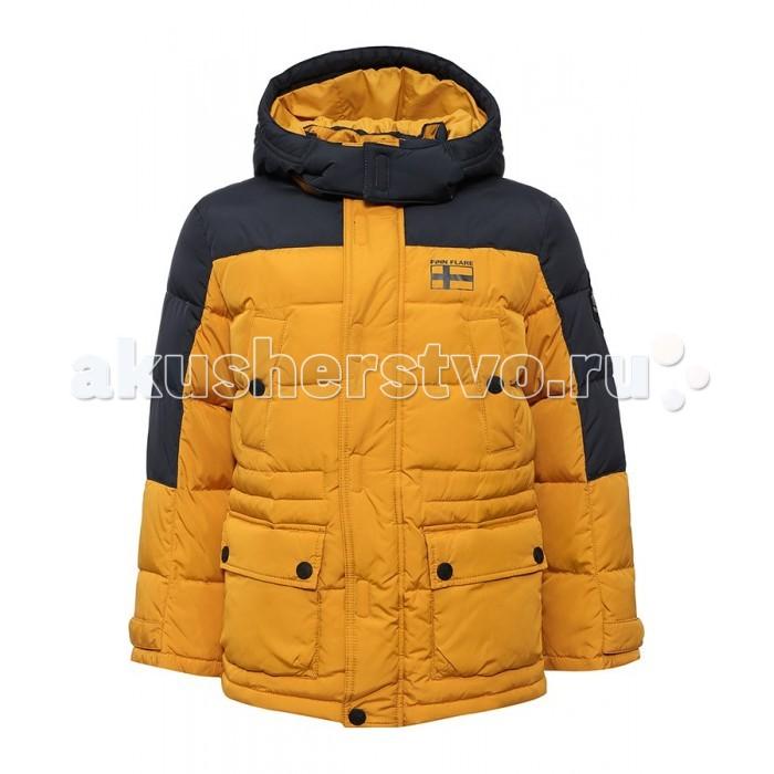 Finn Flare Kids Куртка для мальчика KA16-81008Куртка для мальчика KA16-81008Finn Flare Kids Куртка для мальчика KA16-81008  Стильная и комфортная куртка для мальчика выполнена из прочного материала с утеплителем пух/перо, который имеет отличные теплоизоляционные свойства и является идеальным наполнителем для зимней одежды.  Модель прямого кроя застёгивается на молнию, расположенную по длине куртки, имеет планку на липучках и кнопках. Карманы накладные на кнопках.   Состав:  - Основной материал: 100% полиэстер - Подкладка: 100% полиэстер - Утеплитель: 80/20%  пух/перо - Плотность утеплителя, г/м2: 230  Уход: Машинная стирка в щадящем режиме при максимальной температуре 30°C.  Финский бренд Finn Flare предлагает широкий ассортимент качественной продукции. Модные брендовые вещи являются уникальным предложением для тех, кто предпочитает комфорт и обладает хорошим вкусом. Финская компания уже более полувека создает оригинальные и стильные линейки одежды, обуви и аксессуаров.<br>