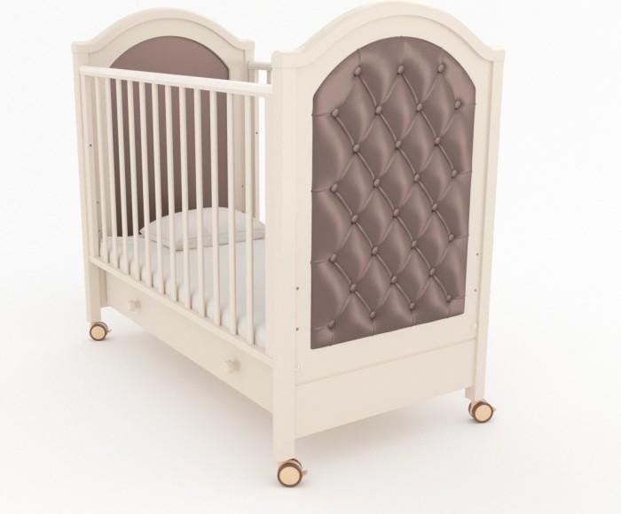 Детская кроватка Гандылян Софи люксСофи люксГандылян Кроватка Софи люкс – это плавные линии форм, искусная резьба и воздушность конструкции в целом — это отличительные черты дизайна детской кроватки-качалки со съемными колесами   Опускающаяся передняя стенка облегчает контакт матери с ребенком и имеет надежный механизм фиксации Дно кроватки может быть установлено в двух положениях по высоте Вместительный ящик для белья в основании выполнен из ДСП и снабжен шариковыми направляющими Верхние перекладины покрыты нетоксичными силиконовыми накладками, играющими роль детских грызунков Внешние габариты (ДхШхВ): 127 x 70 x 119 см<br>