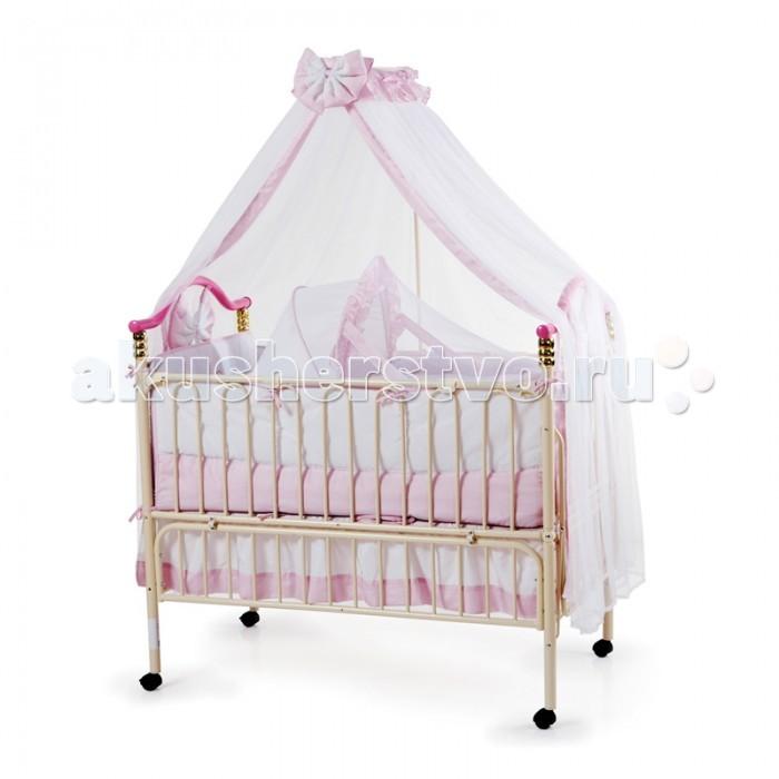 Кроватка-трансформер Geoby TLY632TLY632Кроватка-трансформер Geoby TLY632  Geoby TLY 632 - металлическая кроватка для детей от рождения до 7 лет.  Все необходимое уже входит в комплектацию: подвесная люлька с противомоскитной сеткой, ортопедический матрас, балдахин, мягкий защитный бортик.  Особенности: Съемная люлька для новорожденного (подвешивается на ремнях);  Откидывающаяся боковая стенка для удобства мамы;  Возможно удлинение кроватки по мере роста ребенка;  Два уровня высоты основания (нижний можно использовать как манеж);  Колесики с тормозами;  Матрас из холофайбера;  Мягкая съемная защита;  Балдахин.<br>