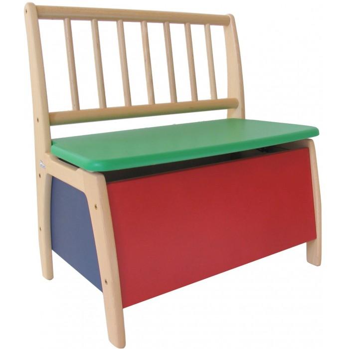 Geuther Скамья детская BambinoСкамья детская BambinoДети погружаются в собственные игровые миры, которые полностью приспособлены к их возрасту и потребностям. Например, они играют во взрослых на свой детский манер и, наконец, ощущают себя по-настоящему дома. А так как товарищи по детским играм всегда являются желанными гостями, мебель для детей должна быть по-настоящему прочной, чтобы пережить прекрасное детство и проявить свои качества во время длительного использования… Так выглядит идеальная мебель в детском мире: она должна быть устойчивой – поэтому скамьи и столы расширяются книзу.  Характеристики: бук, ДСП нетоксичные краски спинка и углы скамьи закруглены, поэтому она безопасна для детей благодаря конструкции - очень устойчива под крышкой сиденья удобный ящик для хранения игрушек крышка оснащена тормозом, чтобы ребенок случайно не прищемил руку  Размеры (вхдxш) 60х56x36 см Высота сиденья  32 см<br>