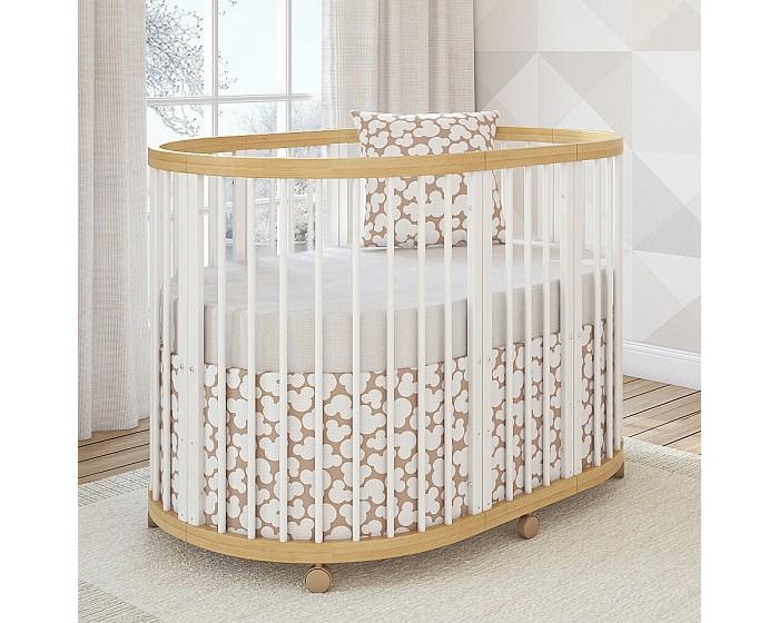 Кроватка-трансформер Giovanni Shapito TreeO 6 в 1Shapito TreeO 6 в 1Кровать-трансформер Giovanni Shapito TreeO 6 в 1 три уникальные кроватки в одной (приставная, круглая и овальная) с функциями 6 в 1.   Самый большой размер спального места среди круглых и овальных кроватей (120 х 90 см) увеличивает функциональность, эффективность и срок использования.  6 ступеней трансформации:  1. приставная кроватка (45 x 90 см) - до 3 мес.**  2. круглая кроватка (90 x 90 см) - до 9 мес.  3. овальная кровать (120 x 90 см)  4. манеж 5. кровать-диванчик 6. 2 мини-кресла  Три уровня основания для матраса Материал: Массив новозеландской сосны  Габаритные размеры: 86 х 96 х 126 см (В х Г х Ш)   **Крепления для приставной кроватки приобретаются дополнительно.<br>