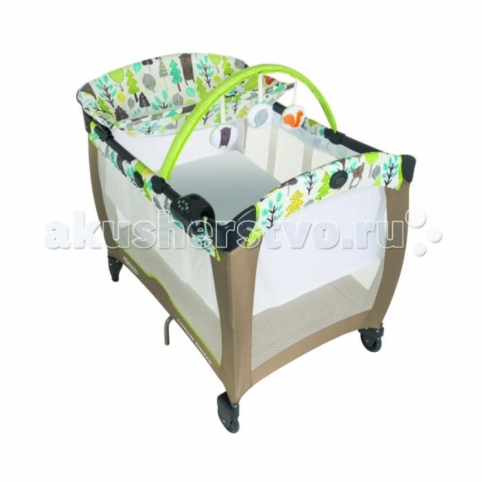 Манеж Graco Contour ElectraContour ElectraМанеж Graco Contour Electra  Манеж-кровать Graco Contour Electra - это оригинальный функциональный манеж, который подарит ребенку прекрасное настроение. Двухуровневое дно позволяет использовать манеж как колыбельку для малыша от рождения до достижения им веса 7 кг.   Особенности: 2 уровня дна максимальная нагрузка на верхний уровень 7 кг дуга с игрушками боковины манежа изготовлены из прозрачного материала, что позволяет постоянно наблюдать за ребёнком благодаря 7 опорам манеж очень устойчив два колеса позволят без особого труда передвинуть манеж система вибрации матраса поможет заснуть Вашему малышу в комплект входят ночник, музыкальное устройство, таймер, стол для пеленания и транспортный чехол  размер упаковки: 23x85 см вес: 14.5 кг  материал: ткань/сетка  размер шхвхд: 73х91х104 см размеры в сложенном виде: 28х85х35 см тип манежа кровать  максимально допустимый вес (кг) 12  пеленальная доска есть<br>