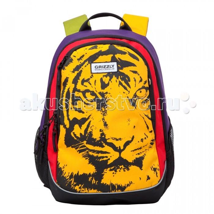 Grizzly Рюкзак RD-637-1Рюкзак RD-637-1Grizzly Рюкзак RD-637-1 удобен для носки как в школу, так и на прогулки. Модель представляет молодежную коллекцию, поэтому в ней соединены самые последние веяния моды и технологий изготовления.  Особенности: два отделения карман на молнии на передней стенке боковые карманы из сетки внутренний карман на молнии внутренний карман-пенал для карандашей внутренний подвесной карман на молнии жесткая анатомическая спинка дополнительная ручка-петля укрепленные лямки.<br>