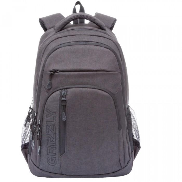 Grizzly Рюкзак RU-700-5Рюкзак RU-700-5Grizzly Рюкзак RU-700-5 выполнен из очень легкой, эластичной ткани высокой прочности. Она устойчива к износу, хорошо стирается и быстро сохнет, сохраняя свою форму.  Особенности: рюкзак молодежный два отделения  два передних кармана на молнии  объемный карман на молнии на передней стенке боковые карманы из сетки внутренний подвесной карман на молнии анатомическая спинка дополнительная ручка-петля мягкая укрепленная ручка  укрепленные лямки  Материал: Полиэстр DL-532<br>