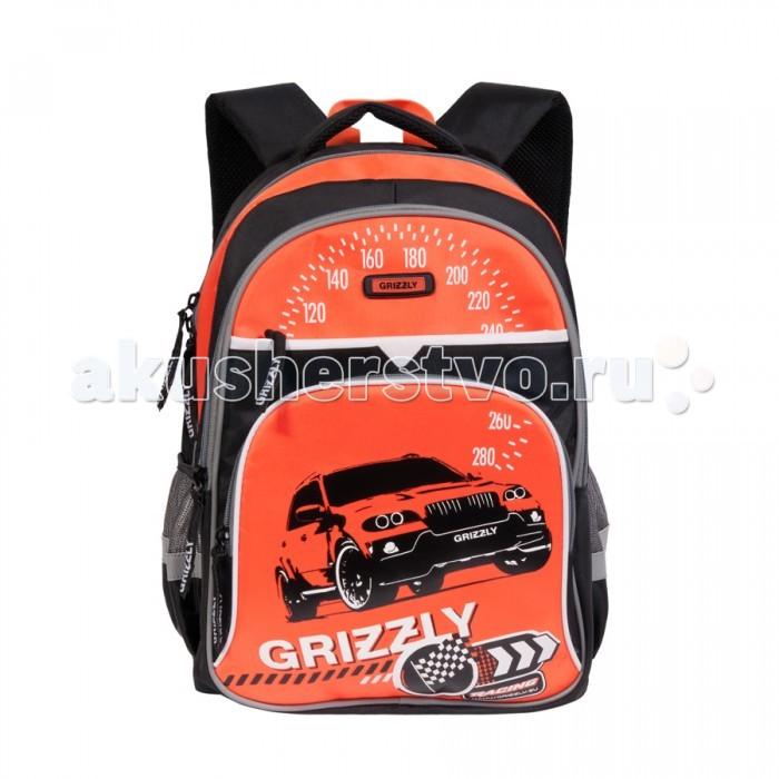 Grizzly Рюкзак школьный RB-632-3Рюкзак школьный RB-632-3Grizzly Рюкзак школьный RB-632-3 для старшеклассников.  Особенности: два отделения карман на молнии на передней стенке объемный карман на молнии на передней стенке боковые карманы из сетки внутренний подвесной карман на молнии  внутренний составной пенал-органайзер откидное жесткое дно  Размеры: 30х40х18 см<br>