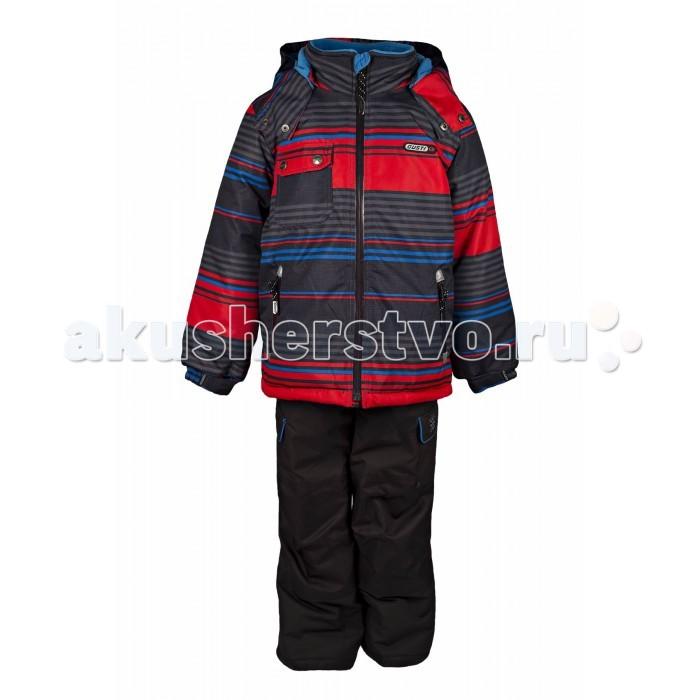 Gusti Boutique Комплект одежды GWB 3034Boutique Комплект одежды GWB 3034Зимний костюм Gusti состоит из куртки и полукомбинезона. В нем ребенку тепло и удобно независимо от того, какая температура на улице. Такая верхняя одежда – идеальный вариант для суровой зимы с сильными морозами.  Куртка:  Ткань верха shuss 5000мм  Наполнитель тек-полифилл плотностью 283 гр/м (10 унций)  Подклад флис на груди и спинке  Снегозащитная юбка  Трикотажные манжеты в рукавах, 2 внутренних кармана  Молнии и фурнитура YKK  Светоотражающие элементы 3М Scotchlite  Капюшон отстегивается  Брюки:  Ткань верха taslan 5000мм + Cordura Oxford сзади, на коленях, и по низу брючин  Наполнитель тек-полифилл плотностью 170 гр/м (6 унций)  Регулируемые лямки полукомбинезона. Высокая грудка до размера 6х/120см; в размерах 7-14 лет отстегивающаяся спинка, грудки нет  Снегозащитные гетры. Регулируемая длина (отворот с креплением на липе)  Молнии и фурнитура YKK  Светоотражающие элементы 3М Scotchlite<br>
