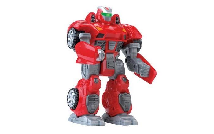 Hap-p-Kid Робот трансформерРобот трансформерHap-p-Kid Робот трансформер классный подарок юному любителю робототехники!   Ребенок очень заинтересуется этим роботом, ведь с помощью него можно придумать так много захватывающих сюжетов. Робот выполнен из качественных материалов, у него прочная броня и в руки ему можно вставить оружие. Робот ходит, двигает головой и руками, а самое главное у него светятся глаза, что делает его еще более угрожающим. Устраивать битвы с таким бойцом одно удовольствие! Собирайтесь с друзьями и решайте чей робот самый сильный!   Работает от батареек<br>