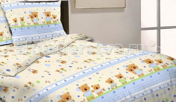 Комплект в кроватку Happy Dreams Мишки и Зайки (7 предметов)