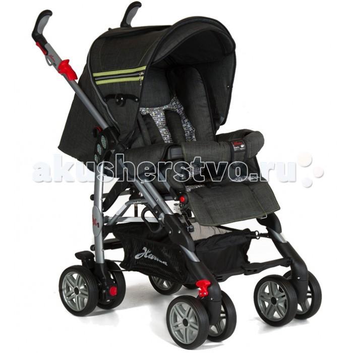 Коляска-трость Hartan Buggy iX1Buggy iX1Коляска-трость Hartan Buggy iX1. Детская прогулочная коляска Hartan Buggy ix1 оснащена двойным блокирующим Duo- тормозом и регулируемой подвеской для максимального комфорта во время езды. Благодаря фиксируемым поворотным колесам вы приобретете необходимую мобильность в повседневной жизни.  Большие спальное место и сиденье, а также мягкая обивка обеспечат оптимальный комфорт для вашего малыша. Спинка регулируется в четырех положениях, вплоть до горизонтального.  Ваш маленький пассажир будет защищен 5-точечным ремнем безопасности и бампером, который может быть легко открыт для посадки.  Ручки коляски Hartan ix1 вращаются и регулируются по высоте.  Особенности: 4 двойных колеса с шарнирными соединениями и центральным замком  4 позиции регулировки спинки (вплоть до лежачего положения)  Съемный капор легко трансформируется в солнцезащитный навес  Складной верх Sun с клипсовым креплением, окошком и солнцезащитным козырьком  Надежный 5-точечный ремень безопасности  Светоотражатели и съемный защитный бампер для дополнительной безопасности  Мягкое удобное сиденье со съемным моющимся чехлом  Автоматический двухблочный тормоз  Регулируемая подвеска в зависимости от веса ребёнка  Индивидуально регулируемая подножка Поворотная, регулируемая по высоте эргономичная ручка с гипоаллергенным покрытием  Шасси изготовлено из облегченного алюминия. Вес шасси - 10,8 кг Вместительная корзинка для покупок  Удобный механизм сложения  Сделано в Германии Имеет сертификат независимой немецкой экспертизы «TUV» В комплекте: накидка для ног и дождевик.  Размеры и вес: Вес: 11.7 кг Размеры в разложенном виде ШхДхВ 57x100x103 см Размеры в сложенном виде ШхДхВ 45 х 45 х 106 см Высота спинки 50 см Глубина сиденья от 24 до 35 см Ширина сиденья от 33 до 35 см Высота от пола до сиденья 49 см Высота от пола до ручки от 96 до 99 см Высота от подставки до сиденья 26 см.<br>
