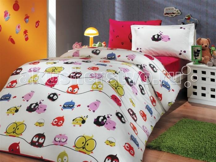 Комплекты в кроватку Hobby Home Collection C одеялом Crazy Birds 100х150 см