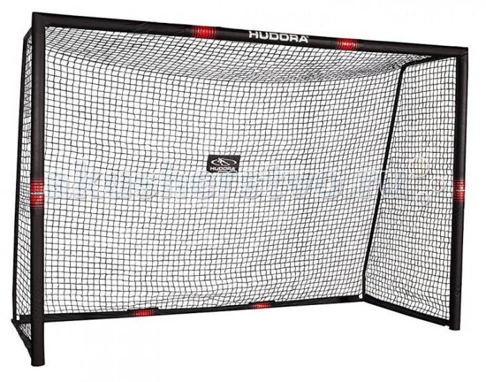 Hudora Футбольные ворота Pro Tech 300Футбольные ворота Pro Tech 300Hudora Футбольные ворота Pro Tech 300 для игры в футбол от 3 лет.  Особенности: Порошковым покрытием трубчатая рама, антрацит, 32 мм &#216; отверстий для мяча Размеры 300 x 200 x 120 см Сетка из 5-ти волокнистого полиэстера, всепогодная Простая фиксация крючков и петель крепежа Крепления шнуров 5 колышками для дополнительной устойчивости Дополнительная передняя сетка Угол отскока регулируемый Вес 15.5 кг Максимальный количество игроков: не ограничено Круглогодичное использование!<br>