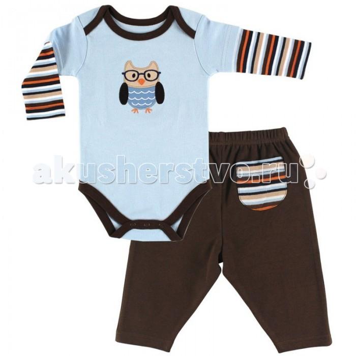 Комплекты детской одежды Hudson Baby Комплект Боди длинный рукав и штанишки Сова (2 предмета) i baby сова b 14108
