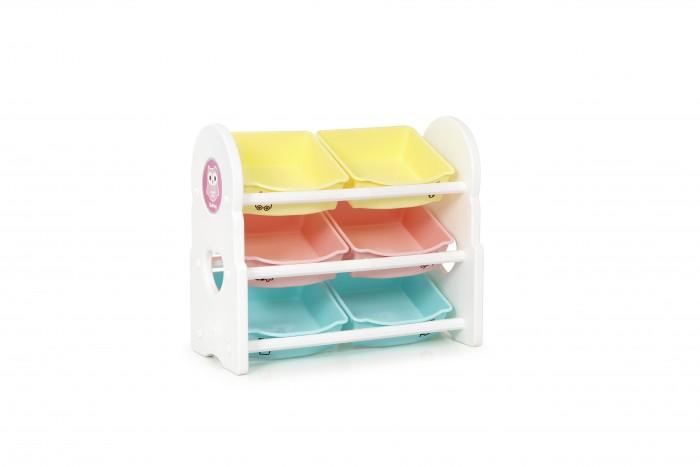 Ifam Стеллаж для игрушек Briring-3Стеллаж для игрушек Briring-3Ifam Стеллаж для игрушек Briring-3 яркий и привлекательный изготовлен в Южной Корее. Материалом служит экологичный пластик PP/PE мятного цвета, который легко очищается моющими средствам.  Модель оборудована 3 полками, на которых расположены 6 открытых ящиков. Для удобства ребёнка, на их передние стенки нанесены изображения с надписями категорий, помогающие правильно разложить свои игрушки и принадлежности по разным ящикам.  Стеллаж очень лёгкий и весит всего 5,11 кг. Это удобно с точки зрения безопасности и практично для транспортировки.   Его размер в установленном виде равен 76 x 36 x 65 см<br>