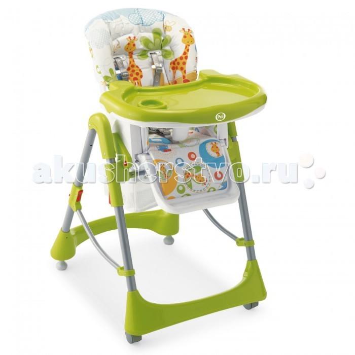 Стульчик для кормления Pali Gigi &amp; Lele baby partyGigi &amp; Lele baby partyСтульчик для кормления Pali Gigi & Lele baby party - очень удобный и комфортный. Выполнен в стиле коллекции Gigi Lele. Стульчик очень комфортный, оборудован удобной подставкой для маленьких ножек малыша, мягким сиденьем, защитным ограничителем и регулируемой спинкой. Изделие соответствует европейским стандартам качества детских товаров.  Особенности: материал: корпус из ударопрочной пластмассы, металл; сиденье моющееся, чехол съемный, легко чистится, не линяет 3 положения высоты, 2 положения наклона спинки подножка регулируемая ремни безопасности: 5-ти точечные занимает мало места от 0 до 36 месяцев Размеры стульчика в разложенном виде (шxдхв)  58х82х107 см Размеры стульчика в сложенном виде (шxдхв)  40х55х120 см<br>