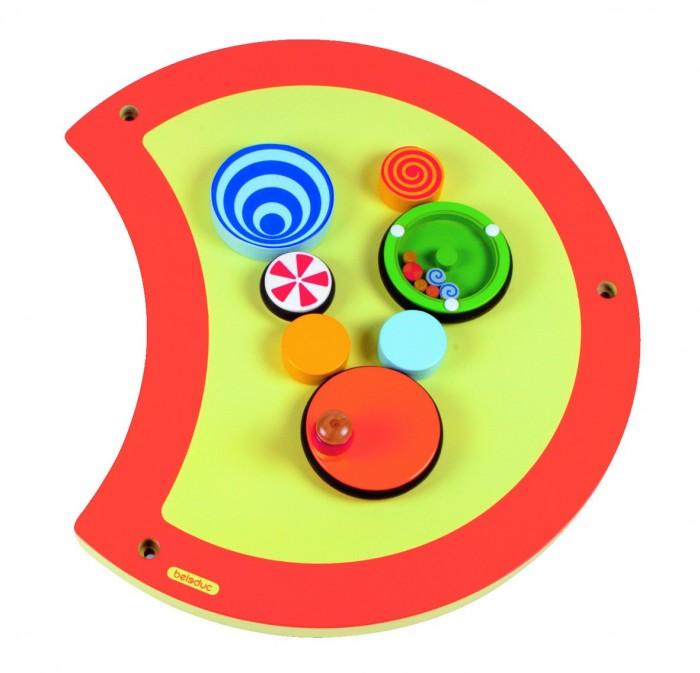 Деревянная игрушка Beleduc Настенный игровой элемент Гусеница Волчок