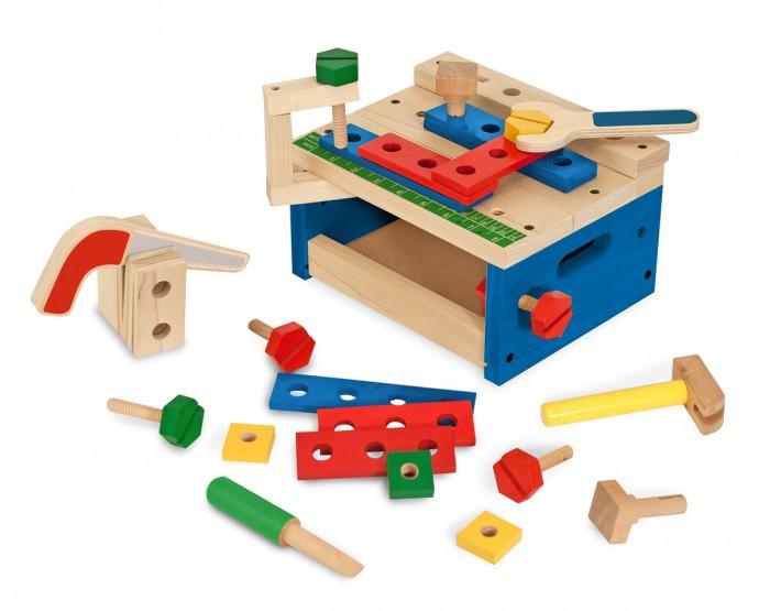 Деревянная игрушка Melissa &amp; Doug Классические игрушки ИнструментыКлассические игрушки ИнструментыMelissa & Doug Классические игрушки Инструменты обязательно понравится вашему малышу и займет его внимание надолго.  С этим замечательным набором ваш ребенок почувствует себя настоящим мастером. В набор входят различные инструменты и детали, из которых можно собрать также незатейливые конструкции.<br>
