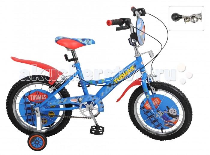 Велосипед двухколесный Navigator Томас и его друзья 16 KiteТомас и его друзья 16 KiteВелосипед Navigator Томас и его друзья 16 Kite - это хорошо собранный и надёжный велосипед для ребёнка. Модель подойдет для ребенка ростом 105-125 см. Детский велосипед с ярким дизайном и популярной лицензией Томас и его друзья.  Велосипед оснащен гудком и ручными тормозами. Катание на велосипеде благоприятно влияет на здоровье, укрепляет мышцы, развивает зрение, учит ориентироваться в пространстве и принимать решения.   Особенности: Тип: детский Материал рамы: сталь Амортизация: отсутствует Конструкция вилки: жесткая Конструкция рулевой колонки: неинтегрированная, резьбовая Диаметр колес: 16 дюймов Материал обода: алюминиевый сплав Двойной обод: нет Шатун: односоставной Возможность крепления боковых колес: есть Боковые колеса в комплекте: есть Тип переднего тормоза: ручной Тип заднего тормоза: ручной Уровень заднего тормоза: начальный Количество скоростей: 1 Уровень каретки: начальный Конструкция каретки: неинтегрированная Тип посадочной части вала каретки: квадрат Количество звезд в кассете: 1 Количество звезд системы: 1 Конструкция педалей: платформы Конструкция руля: изогнутый Настройка положения руля: регулируемый подъем Материал рамки седла: сталь Комфорт: защита цепи, щиток на руле<br>