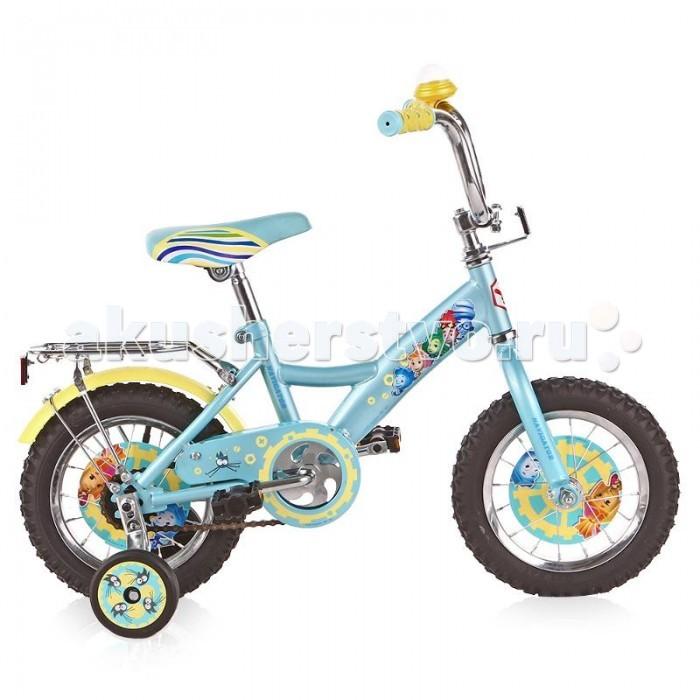 Велосипед двухколесный Navigator Фиксики 12 KiteФиксики 12 KiteВелосипед Navigator Фиксики 12 Kite - это хорошо собранный и надёжный велосипед для ребёнка. Модель подойдет для ребенка ростом 95-115 см. Детский велосипед с ярким дизайном и популярной лицензией Фиксики.  Велосипед оснащен багажником и корзиной для игрушек. Катание на велосипеде благоприятно влияет на здоровье, укрепляет мышцы, развивает зрение, учит ориентироваться в пространстве и принимать решения.   Особенности: Тип: детский Материал рамы: сталь Амортизация: отсутствует Конструкция вилки: жесткая Конструкция рулевой колонки: неинтегрированная, резьбовая Диаметр колес: 12 дюймов Материал обода: алюминиевый сплав Двойной обод: нет Шатун: односоставной Возможность крепления боковых колес: есть Боковые колеса в комплекте: есть Тип переднего тормоза: отсутствует Тип заднего тормоза: ножной Уровень заднего тормоза: начальный Количество скоростей: 1 Уровень каретки: начальный Конструкция каретки: неинтегрированная Тип посадочной части вала каретки: квадрат Количество звезд в кассете: 1 Количество звезд системы: 1 Конструкция педалей: платформы Конструкция руля: изогнутый Настройка положения руля: регулируемый подъем Материал рамки седла: сталь Комфорт: защита цепи, мягкая накладка на руле<br>