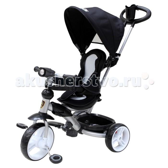 Велосипед трехколесный Navigator Lexus Т58449Lexus Т58449Велосипед трехколесный Navigator Lexus предназначен для того, чтобы ребенок увидел мир с другого ракурса и постепенно переходил с коляски на собственный транспорт. Популярная модель детского трехколесного велосипеда с ярким дизайном. Велосипед снабжен ручкой управления для родителей.  Особенности: Диаметр переднего/заднего колеса: 10/8 Широкие пластиковые колеса с пластиковыми дисками  Сиденье с нерегулируемой спинкой и ремнями  Конструкция руля прямой Тяга Безопасность и комфорт Ручка для родителей  Управление рулем Подставки для ног  Переднее крыло  Страховочный неразъемный обод  Колясочный козырек от дождя Тканевая вставка на сиденье  Задняя корзина (фиксированная) Фонарик  Вес: 8.1 кг<br>