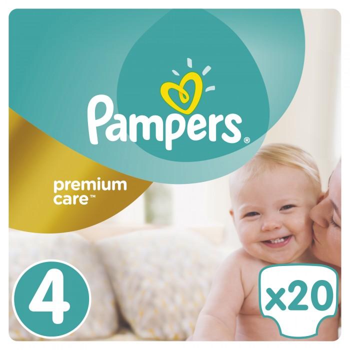 Подгузники Pampers Подгузники Premium Care р.4 (8-14 кг) 20 шт. pampers подгузники pampers premium care 5 9 кг 3 размер 20 шт