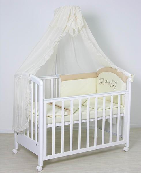 Комплекты в кроватку Fairy полулён (7 предметов) комплекты в кроватку fairy жирафик 120х60 7 предметов