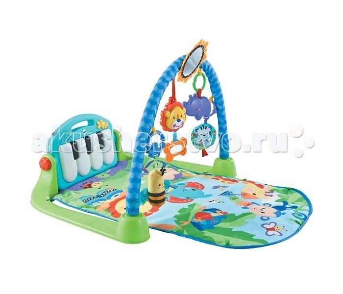 Развивающий коврик FunKids Piano Gym 8840Piano Gym 8840FunKids Развивающий Музыкальный игровой коврик для новорожденного Piano Gym 8840  Музыкальный игровой коврик для младенца, который будет расти вместе с ним!  Особенности: 4 способа игры в зависимости от возраста Для самых маленьких: лежа на спине. Ребенок может нажимать на клавиши пианино и играть веселыми игрушками, которые подвешены на дуге Лежа на животе. Ползать, заниматься игрушками, рассматривать себя в безопасное зеркало Сидя на коврике. Положение пианино можно менять из вертикального в горизонтальное Подросший малыш может всегда взять съемное пианино с собой, например на прогулку.  Размер: Длина - 83 см Ширина - 50 см Высота игровой дуги - 45 см.<br>