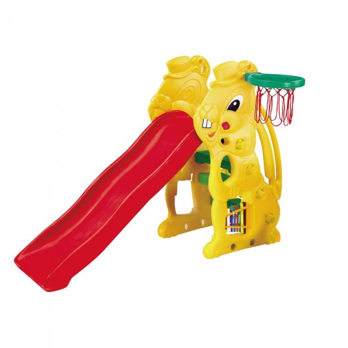 Горка BabyOne Ching Ching Заяц SL-07Ching Ching Заяц SL-07Материалы: полый высокопрочный структурный пластик  Основные характеристики:  - рекомендована для детей от 1,5 до 10 лет; - допустимая нагрузка - до 50 кг; - устойчивая и функциональная, лёгкая в сборке; - для использования внутри и вне помещений; - два уровня высоты; - специальное кольцо для игры в мяч; - встроенный музыкальный инструмент-ксилофон; - длина спуска - 137 см; - занимаемая площадь: 48 х 160 см; - размеры: 160 х 48 х 111 см (ДхШхВ);   вес: 12 кг; размер упаковки: 131 х 23 х 61.<br>