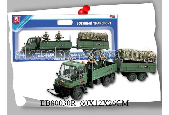 Машины S+S Toys Машина Военная с прицепом EB80030R/100598347 машина s s toys 00627111 1134109