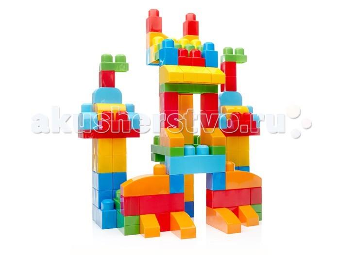 Конструктор Mega Bloks First Builders Deluxe 150 элементовFirst Builders Deluxe 150 элементовКонструктор Mega Bloks First Builders Deluxe 150 элементов  Постройте и исследуйте множество конструкций с набором «Большой конструктор в сумке». Этот набор — воплощение мечты любого родителя и ребенка. 150 кубиков First Builders, включая новые формы, помогут развить фантазию и тягу к творчеству! Из кубиков классических цветов вы можете строить высокие башни, невероятные замки, забавных существ и все, что ваш ребенок пожелает. Кубики First Builders можно хранить в экологичном мешке!<br>