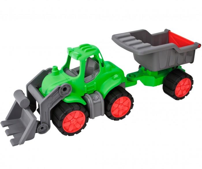 BIG Самосвал с прицепом Power Tractor 66 смСамосвал с прицепом Power Tractor 66 смСамосвал с прицепом BIG Power Tractor 66 см  Этот яркий и большой самосвал обязательно понравится вашему малышу и станет для него отличным подарком!  Большой трактор может одновременно перевезти все, что кажется нужным и важным вашему ребенку - гору песка, игрушки, инструменты. Большой прицеп у трактора отсоединяется, а ковш поднимается. Широкие колеса трактора позволяют ему быть устойчивым на любых поверхностях.<br>