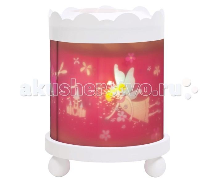 Trousselier Светильник-ночник в форме цилиндра Fairy PrincessСветильник-ночник в форме цилиндра Fairy PrincessСветильник-ночник в форме цилиндра Trousselier Fairy Princess помогает малышам заснуть. Большинство деток боятся спать при выключенном свете. Для спокойного сна малышам необходимо присутствие родителей, так как зачастую под влиянием детской фантазии они боятся и не любят оставаться на ночь одни. В связи с чем были придуманы и созданы ночники Мягко вращающаяся сцена успокаивающие воздействует на малыша, обеспечивая комфортное засыпание и спокойный сон.  Ночники Trousselier - идеальный аксессуар для детской комнаты. Нежный свет и красочные картинки создадут атмосферу уюта, успокоят и убаюкают кроху.  Характеристики: Ночник-проектор с вращающейся картинкой. Ночник с двойной функцией – вращающаяся картинка внутри, либо, как проектор на стену При удалении белого цилиндра, лампа проецирует на стены изображение героев Цилиндр ночника вращается благодаря системе нагрева от лампочки 12 V 20 W, розетка E 14.C Размер: 17 см x 22 см  Материал: металлический корпус, деревянные ножки и углы, пластиковый, жароустойчивый цилиндр Поставляется в подарочной упаковке Соответствует нормам безопасности: CE EN 60598-2-10  Французский бренд Trousselier вот уже более 40 лет создает уникальные коллекции детских игрушек, товаров для дома и интерьера. Вся продукция изготовлена из натуральных материалов с соблюдением высоких европейских стандартов качества.<br>